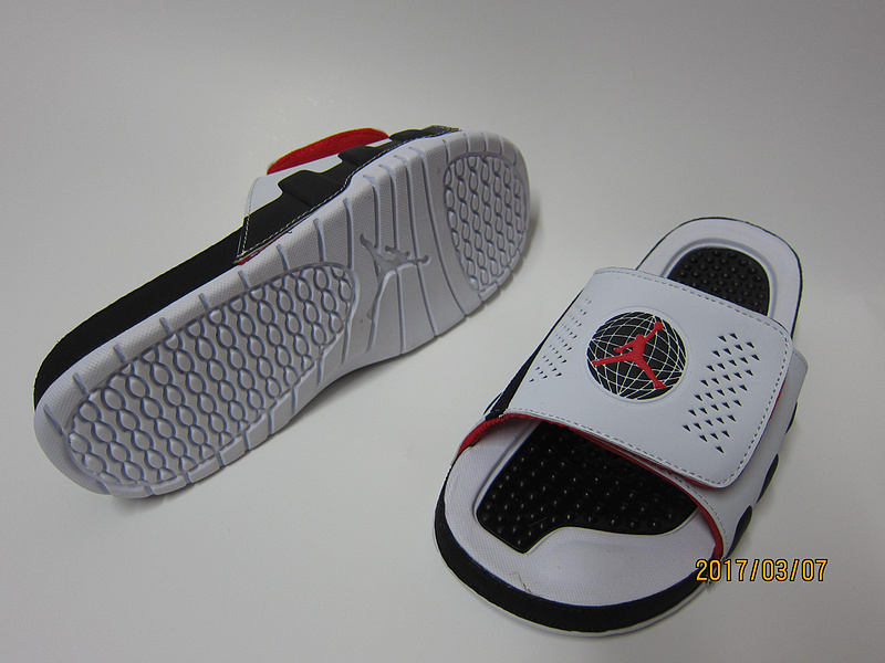 2017 Air Jordan Hydro 9 White Black Red