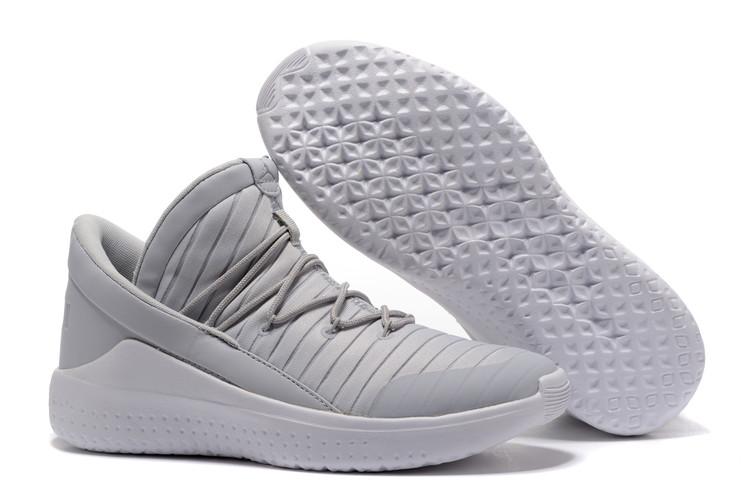 2017 Jordan Flight Luxe Grey White Shoes