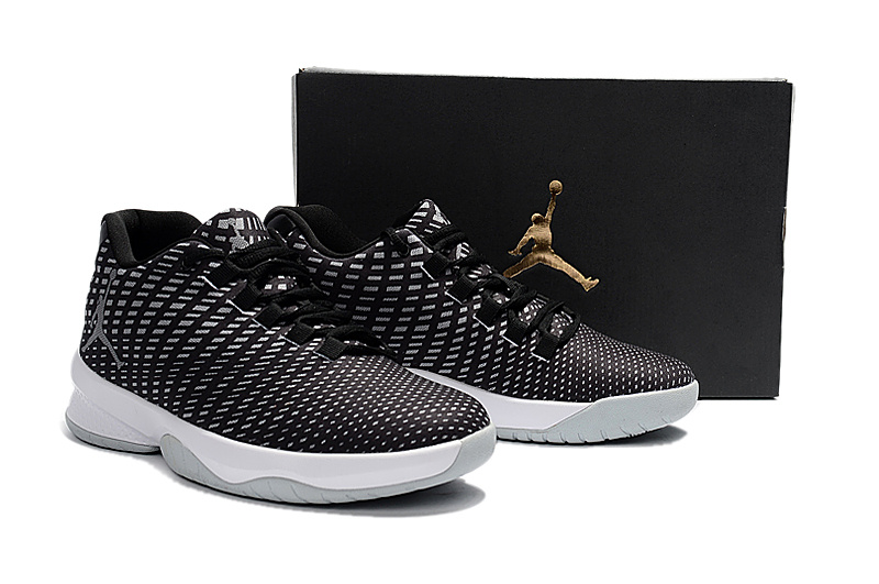 2017 Outdoor Jordan Basketball Shoes Black White Shoes