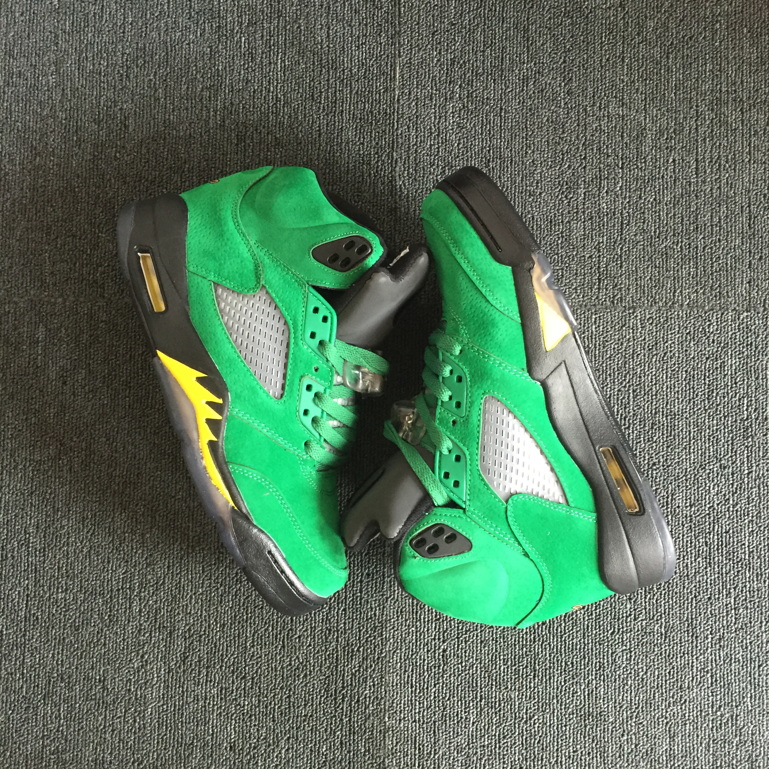 Air Jordan 5 Oregon PE Green Yellow Black