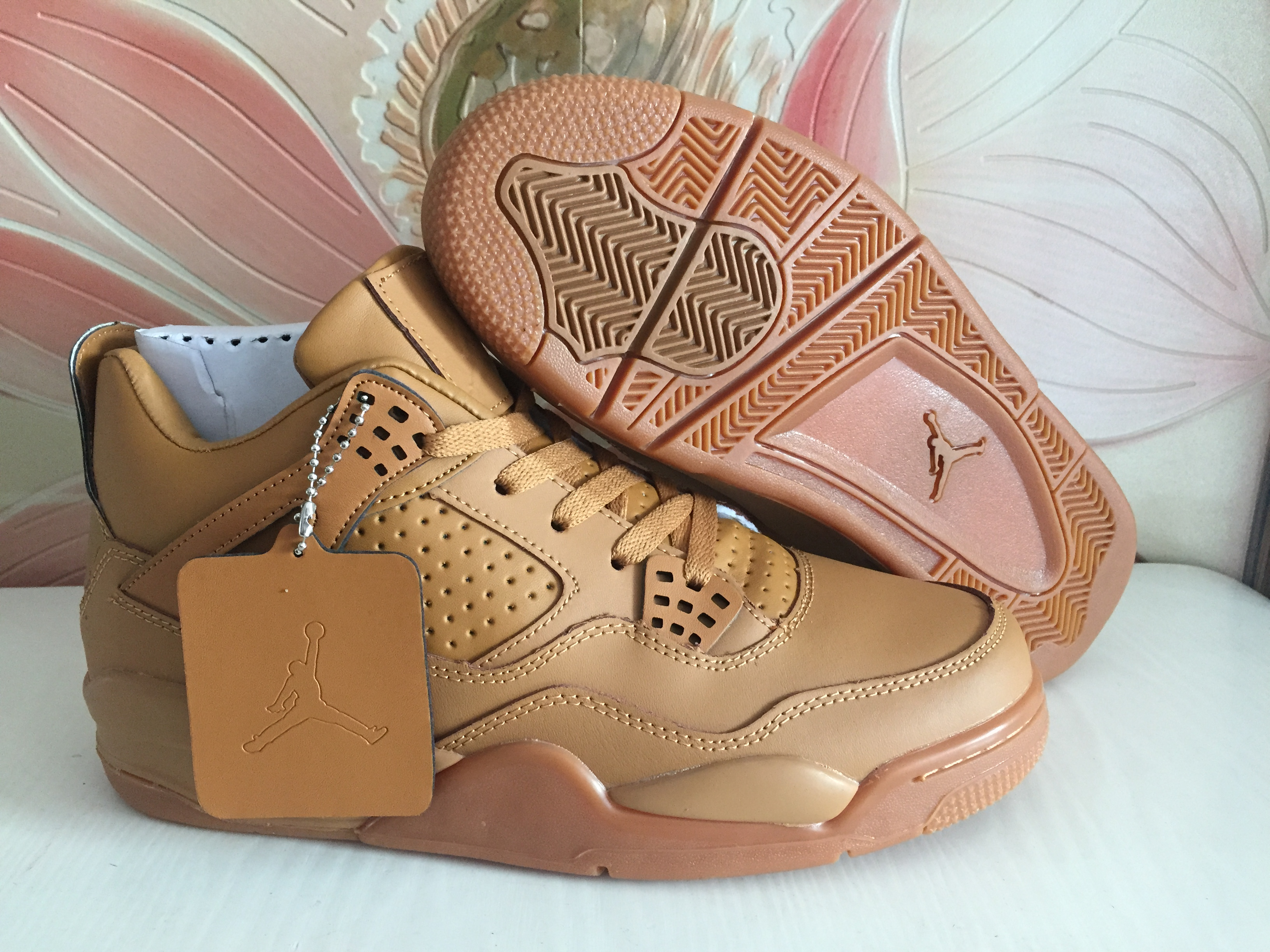 2018 Air Jordan 4 Wheat Yellow Shoes
