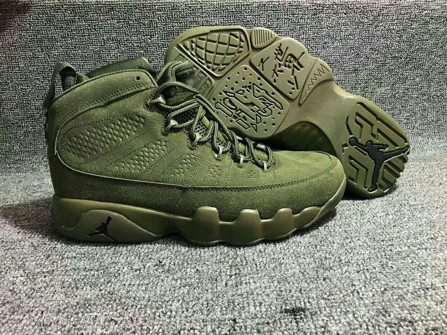 2018 Air Jordan 9 Red Army Green Shoes