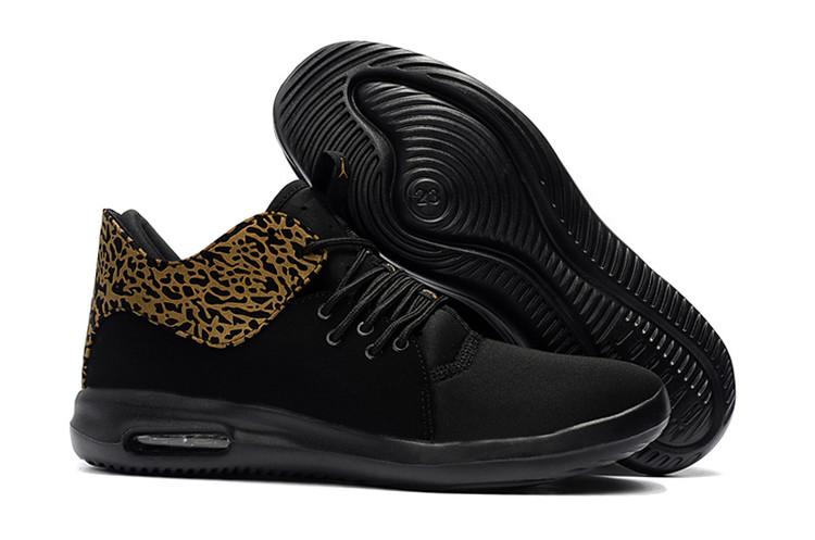 2018 Air Jordan Running Shoes Black Cheetah Print Yellow