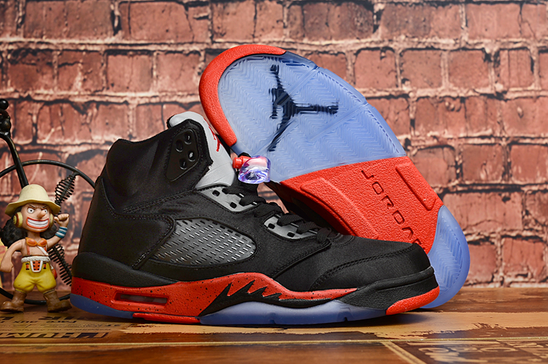 2019 Air Jordan 5 Silk Road Black Red Shoes