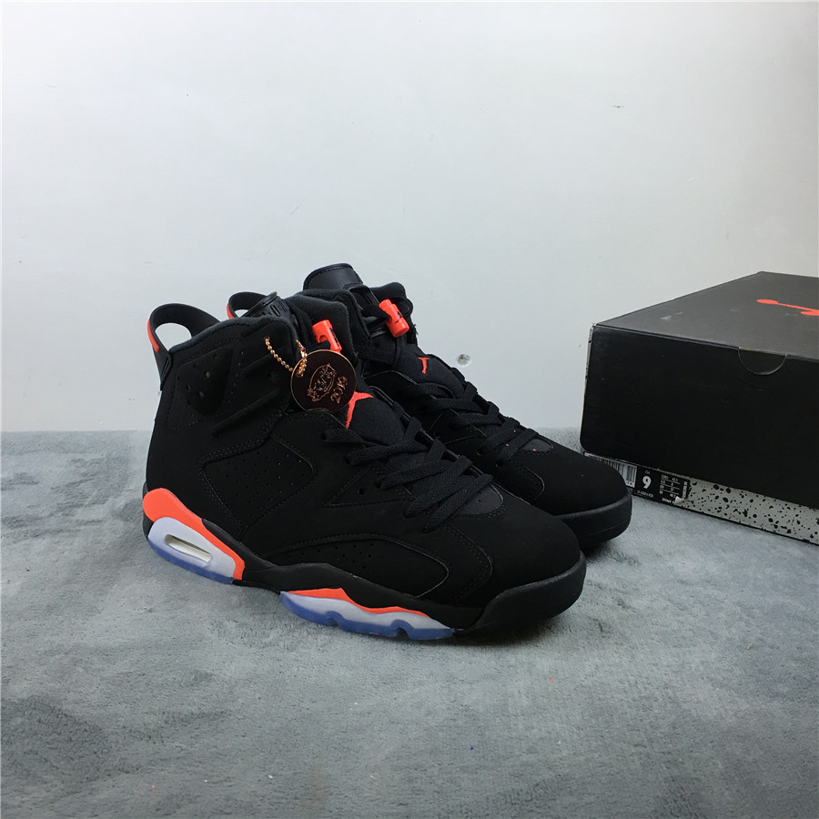 Women Air Jordan 6 PM Black Infrared Red Shoes