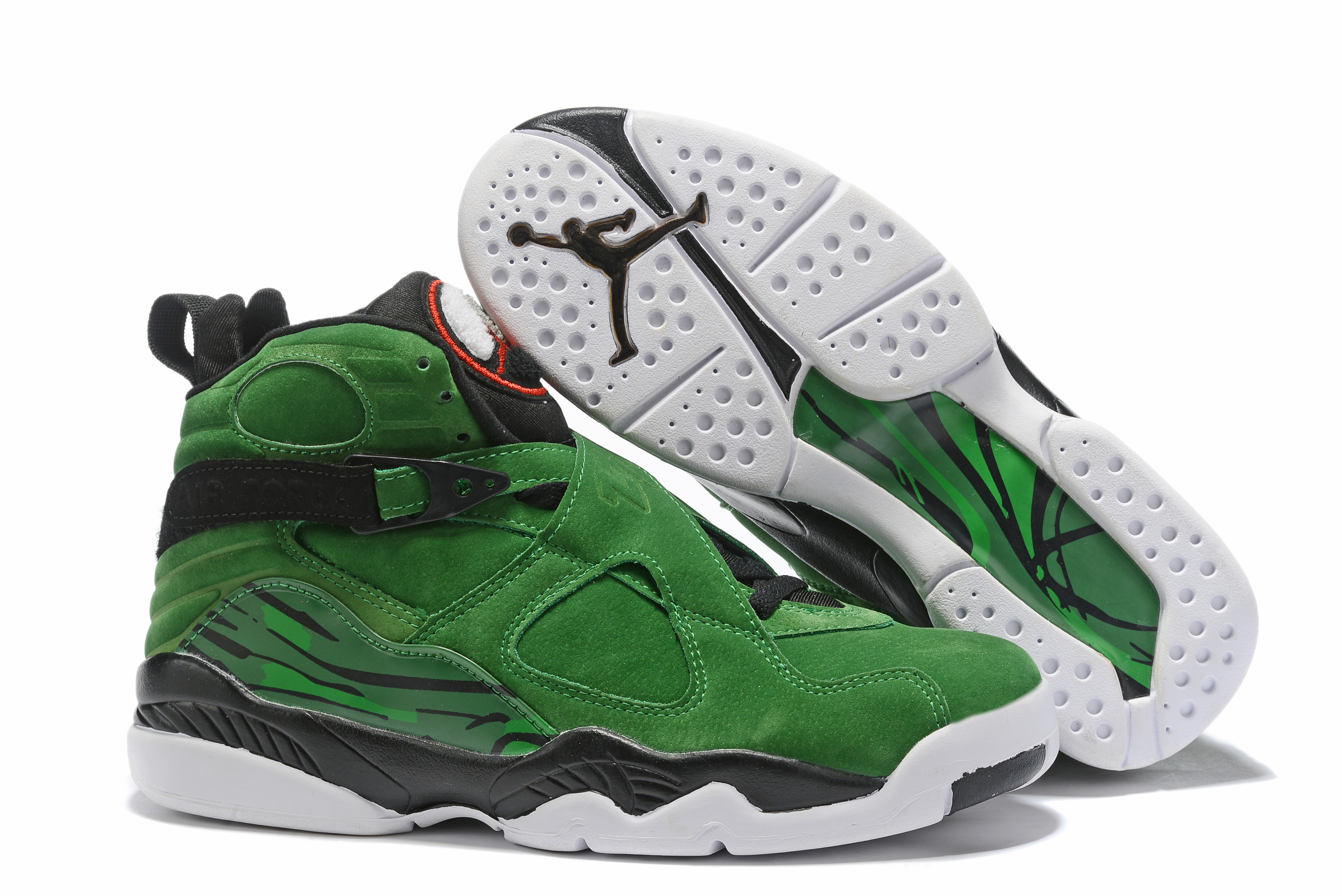 2019 Air Jordan 8 Green Black Red White Shoes