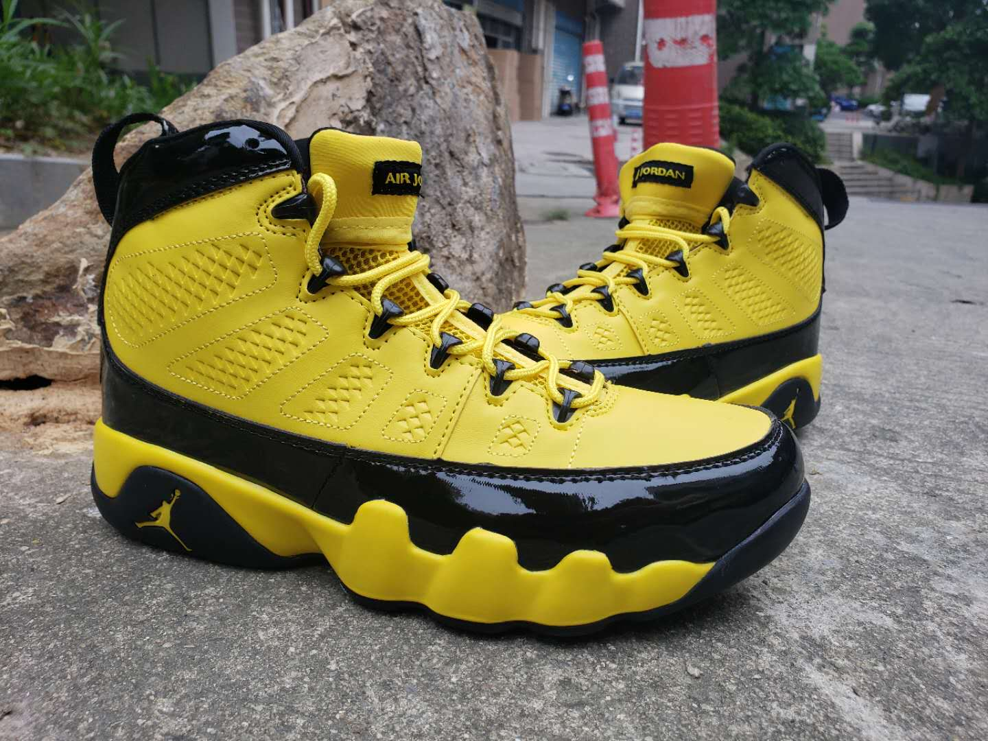 2019 Air Jordan 9 Bumblebee Yellow Black Shoes