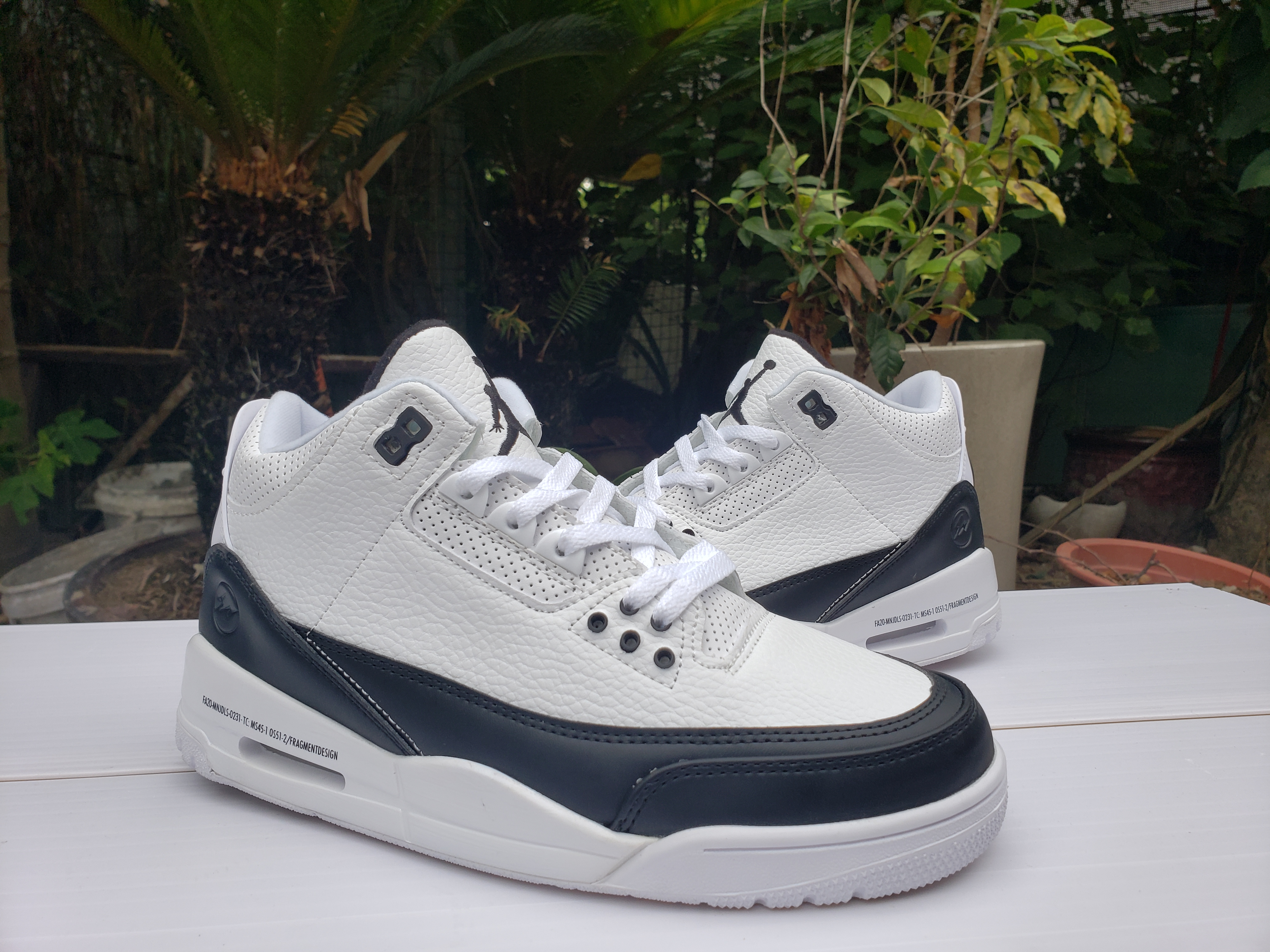 2020 Air Jordan 3 Retro White Black Shoes