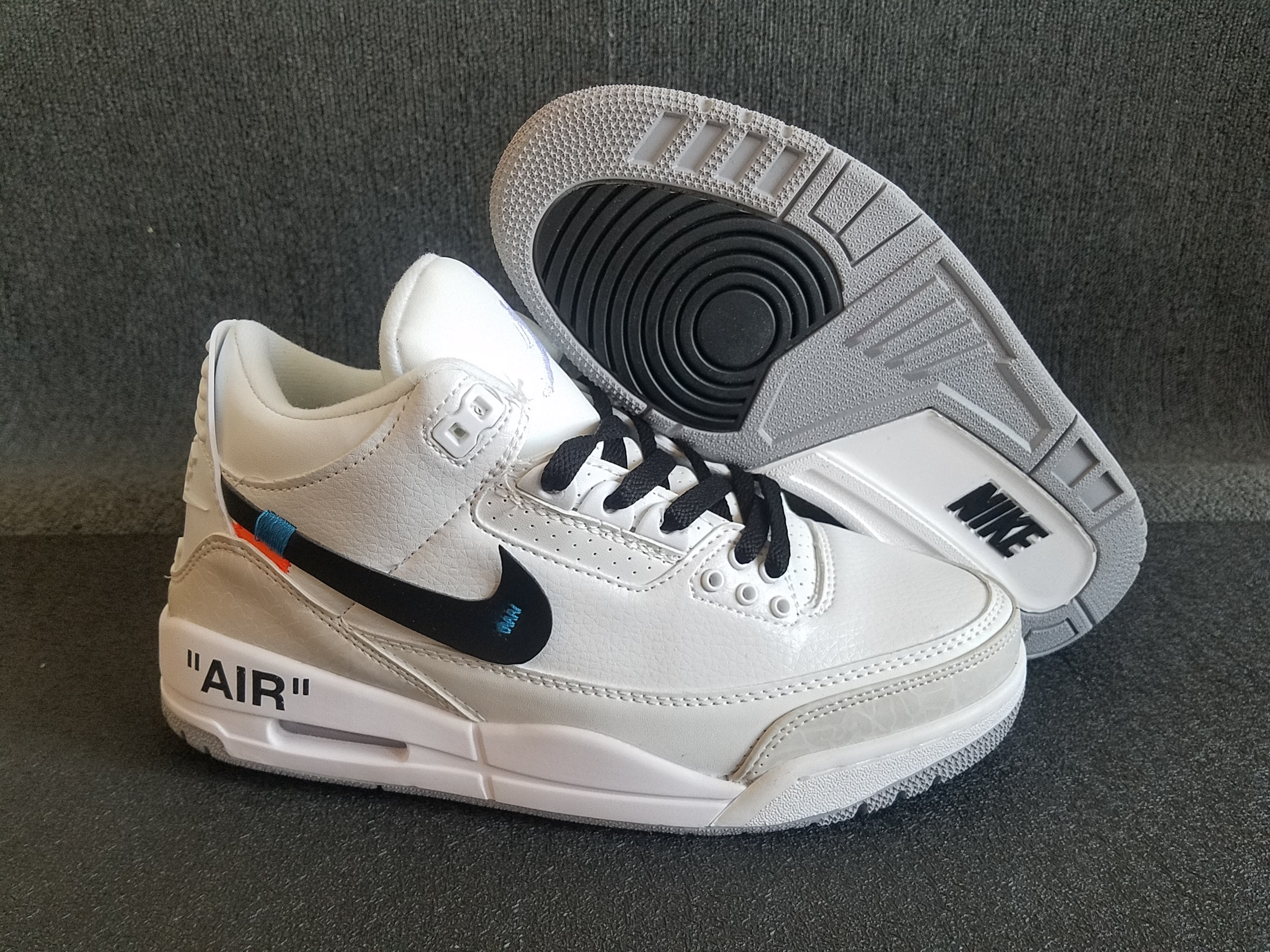 AJ3 x off white &black shoes