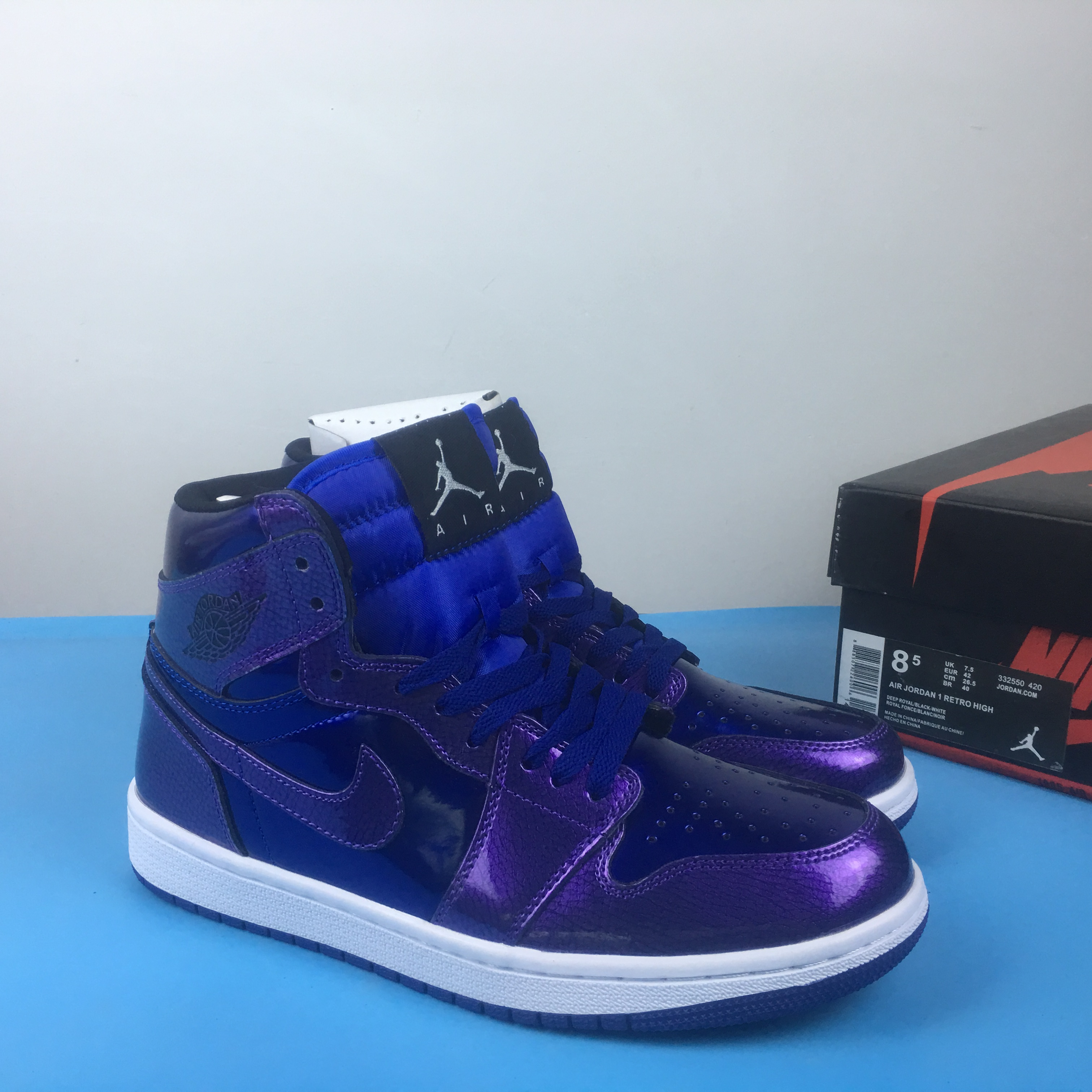 Air Jordan 1 Retro High Shine Blue Shoes