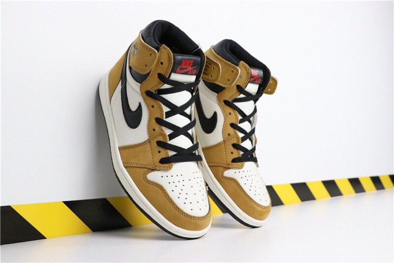 Air Jordan 1 Rookie of the Year Yellow Black White Shoes