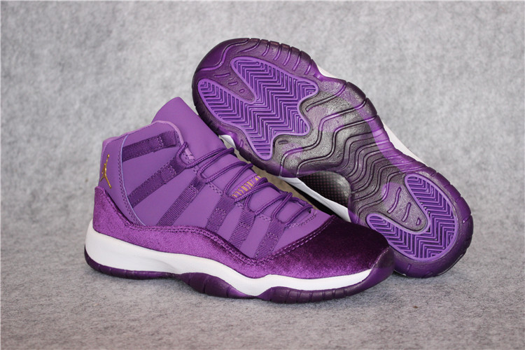 Air Jordan 11 Retro Velvet Purple White Shoes