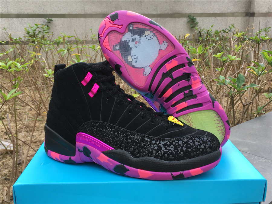 Air Jordan 12 Doernbecher Black Pink Shoes