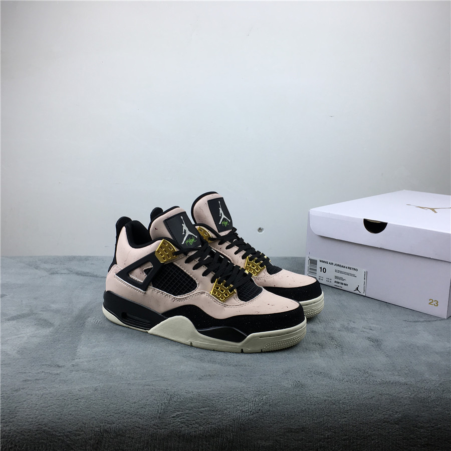 "Air Jordan 4 ""Silt Red"" WMNS Pink Black Gold Shoes"