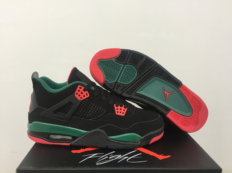 Air Jordan 4 NRG Gucci Black Green Red Shoes