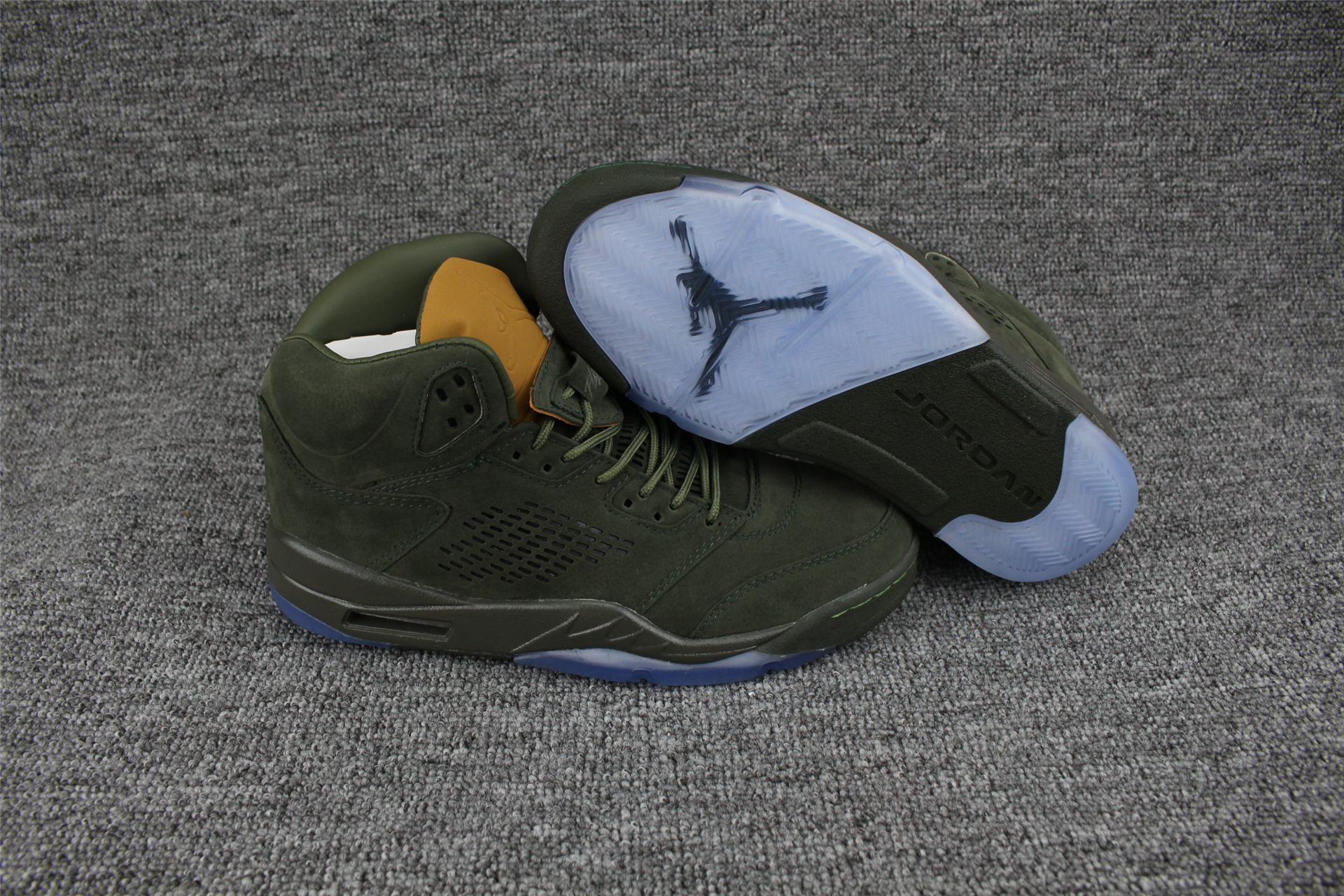 Air Jordan 5 PRM Take Flight Green Yellow Shoes