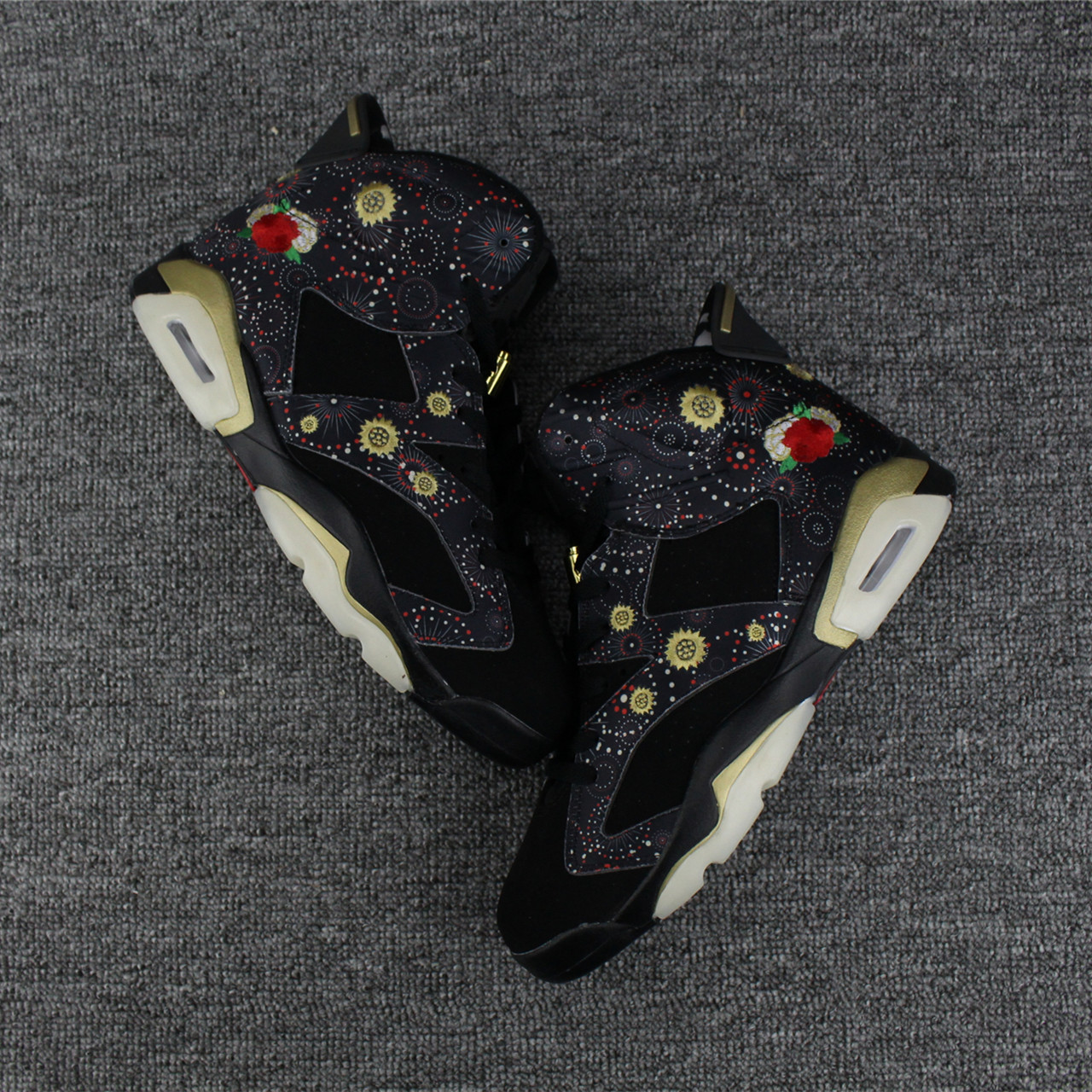 Air Jordan 6 Chinese New Year Black Print Shoes