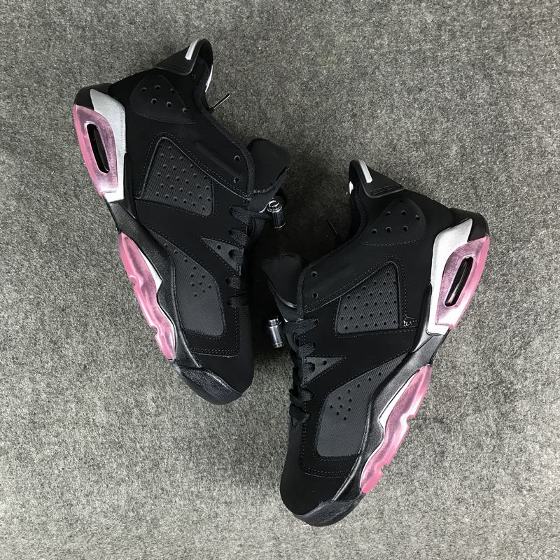 Air Jordan 6 Low Sun Blush Black Pink Lover Shoes