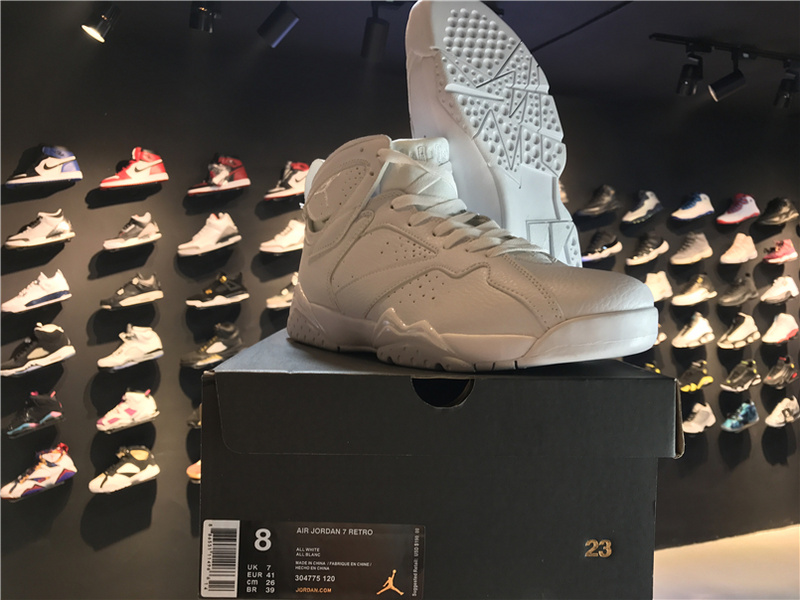 Air Jordan 7 Pure Money All White Shoes
