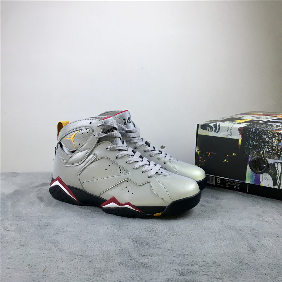Air Jordan 7 Reflections of A Champion Silver Grey Shoes