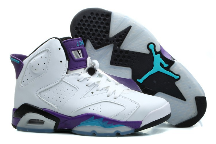 Air Joran 6 White Purple Black For Women
