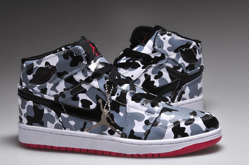 New Arrival Jordan 1 Camouflage White Red Shoes