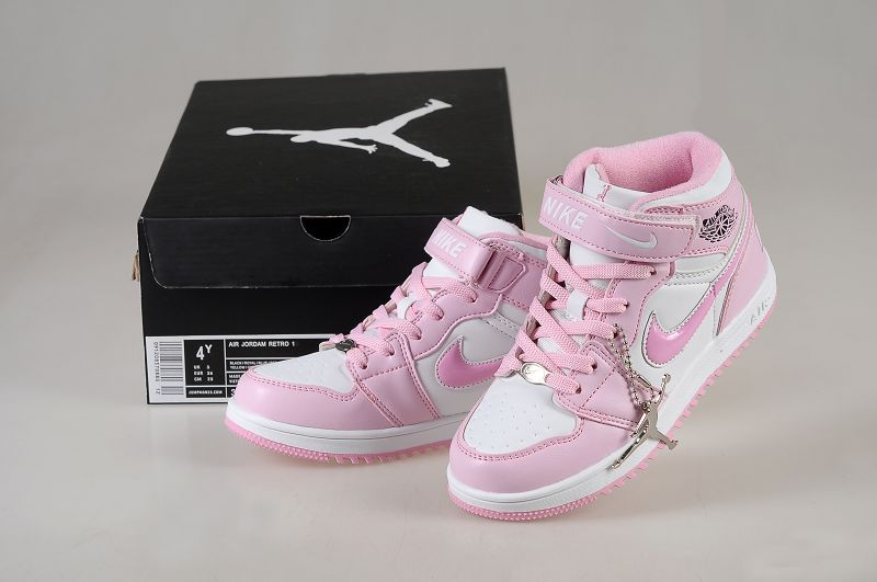 New Arrival Jordan 1 Hardback White Pink For Kids