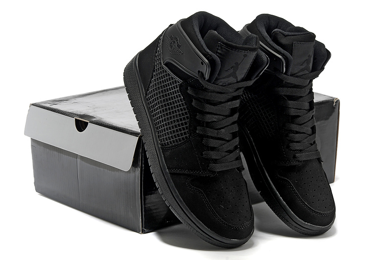 Air Jordan 1 High All Black Shoes
