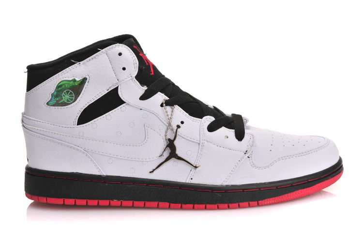 Air Jordan 1 Inserted Air Cushion White Black Red Shoes