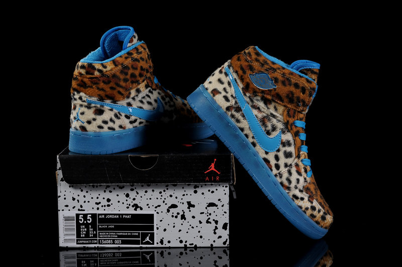 Air Jordan 1 Leopard Blue For Women