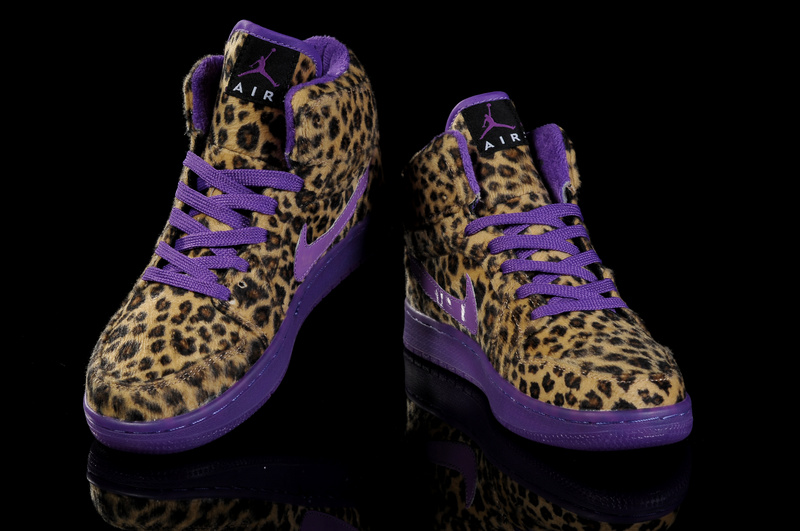 Air Jordan 1 Leopard Purple For Women