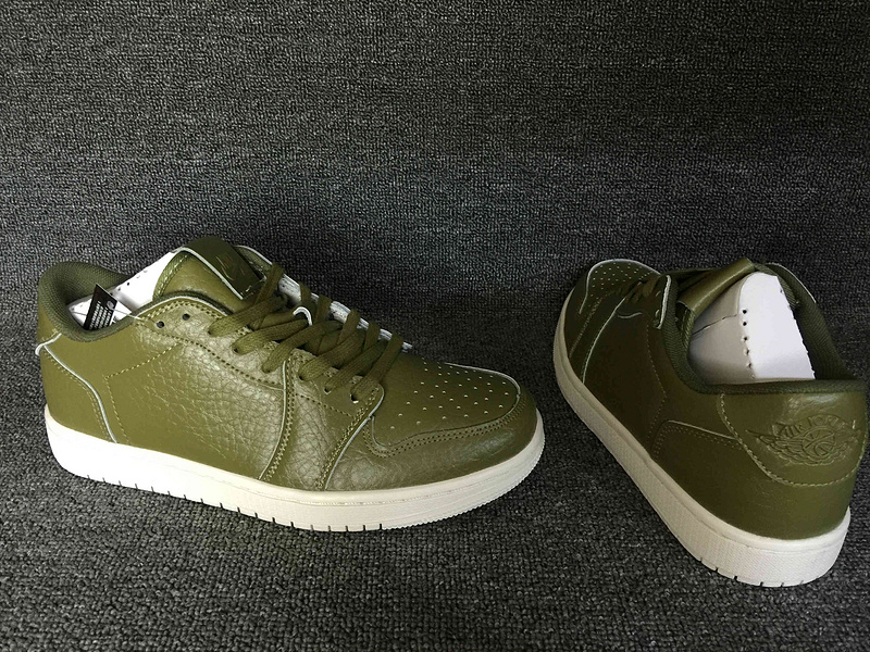 Air Jordan 1 Low No Swoosh Army Green Shoes