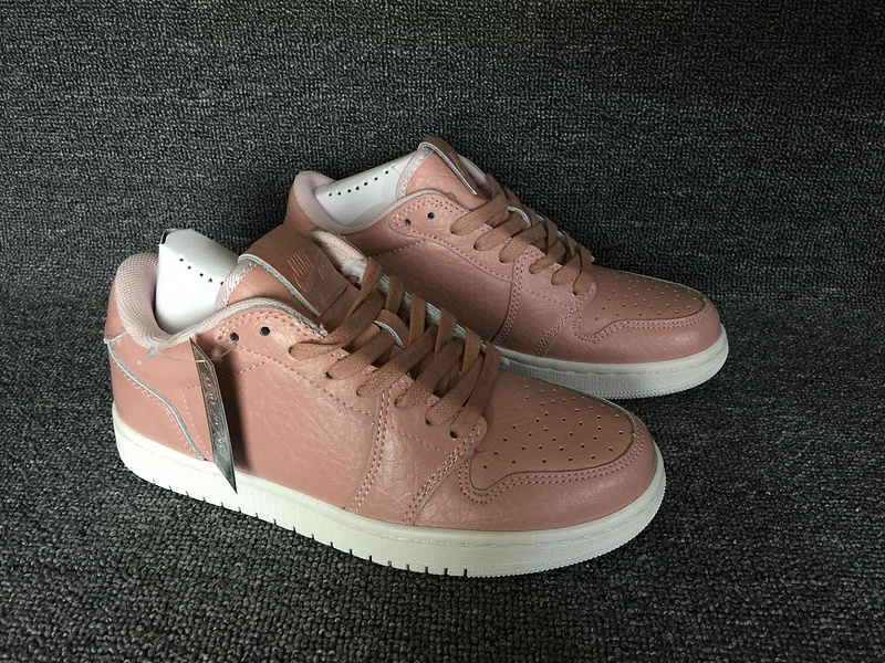 Air Jordan 1 Low No Swoosh Pink White Shoes For Women