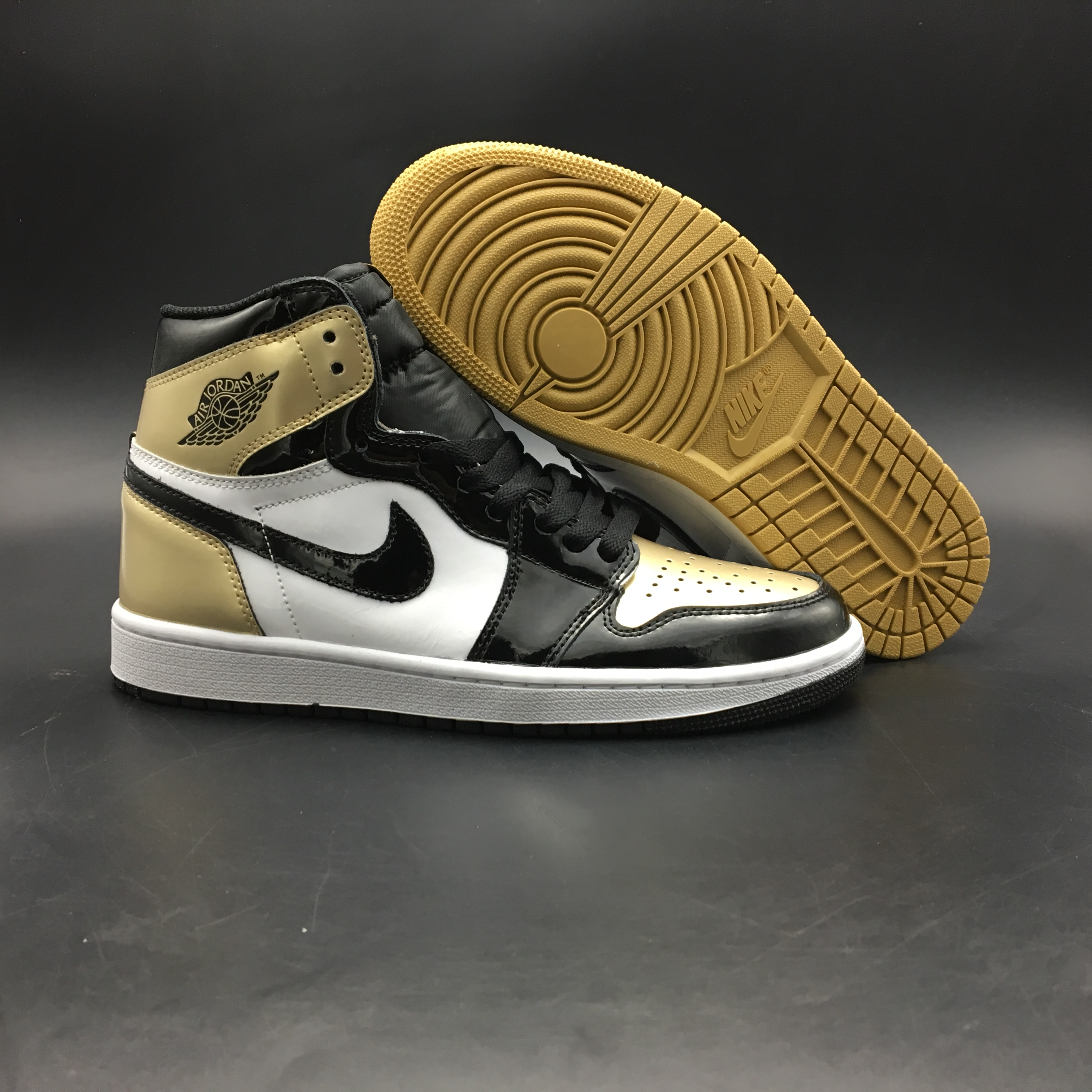 Air Jordan 1 Madrick Duck White Gold Black Shoes