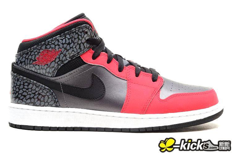 Air Jordan 1 Pink Silver Black Shoes For Women