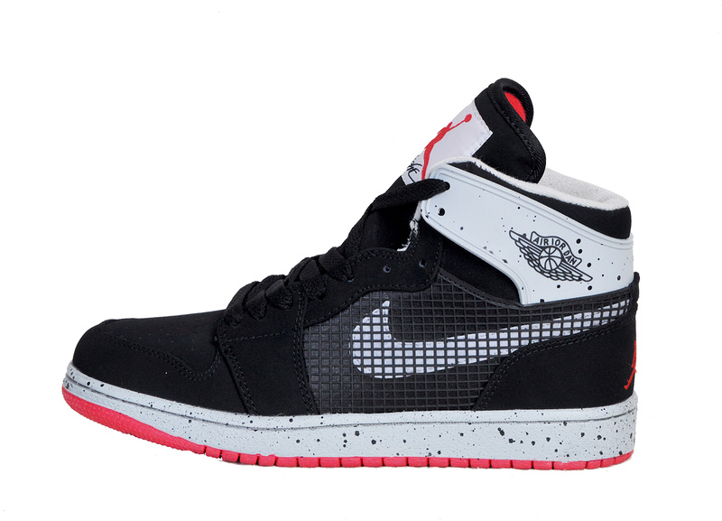 New Arrival Jordan 1 Retro 89 Black Grey Red Shoes