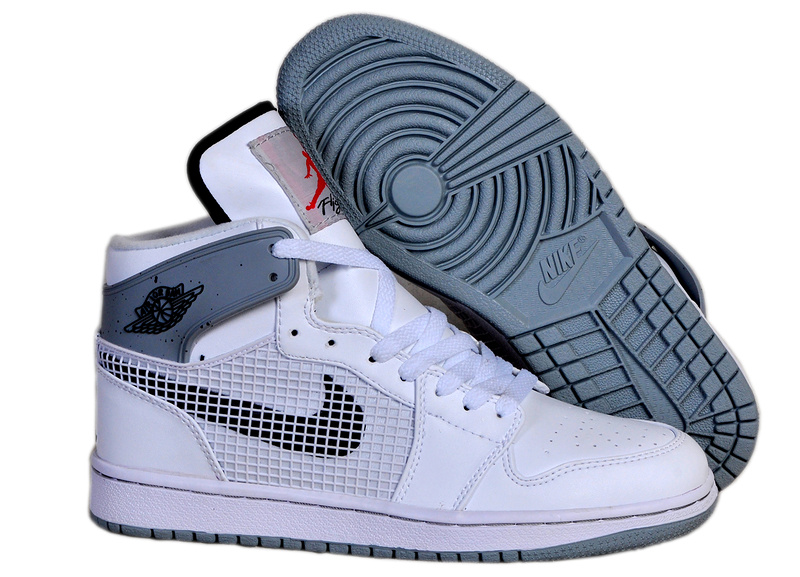New Arrival Jordan 1 Retro 89 White Grey Shoes