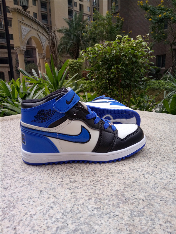 Air Jordan 1 Strap Black Blue White Shoes