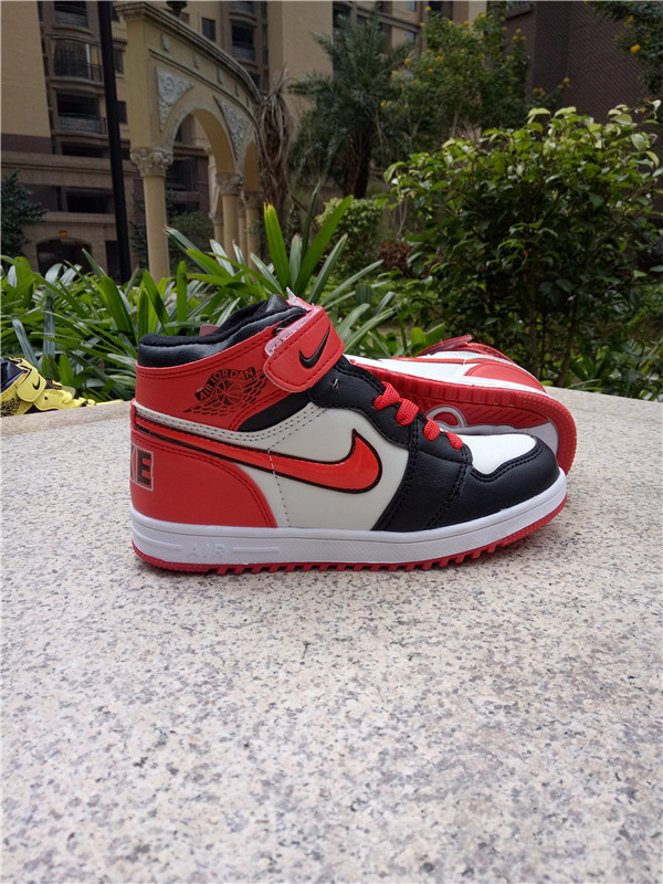 Air Jordan 1 Strap Black Red White Shoes