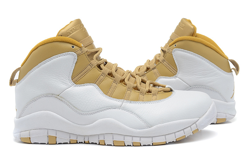 ... womens air jordan retro 10 yellow gold ...