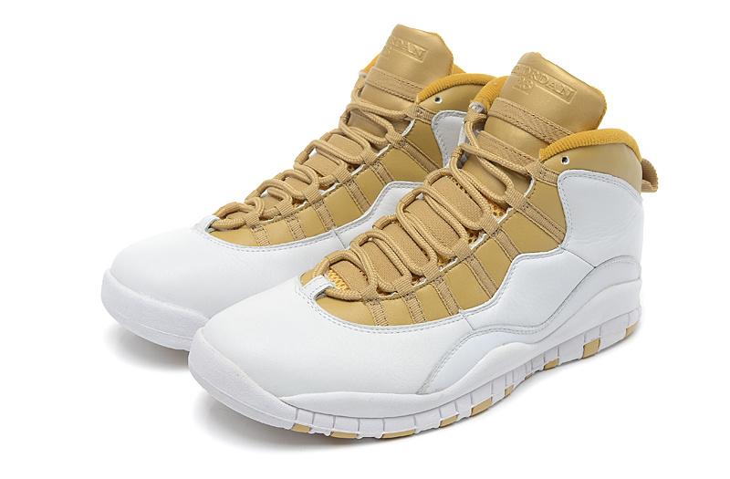 air jordan retro 10 yellow gold