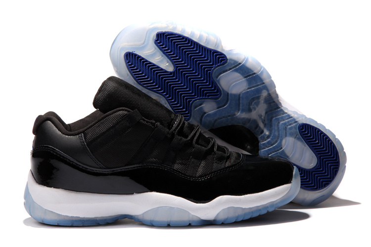 Air Jordan 11 Low Black White Blue Shoes