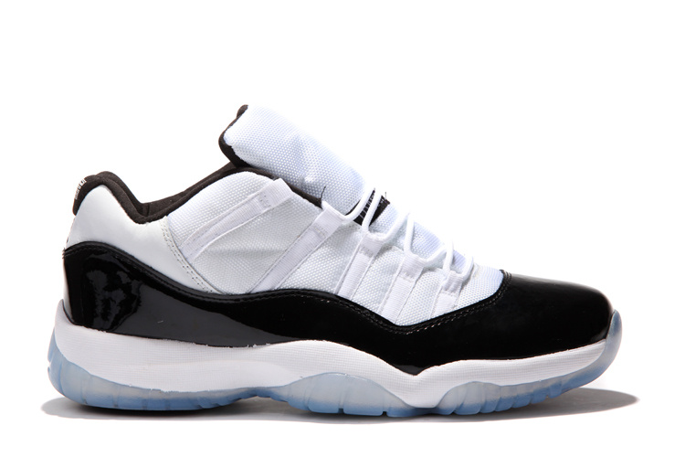 Air Jordan 11 Low White Black Concard Shoes