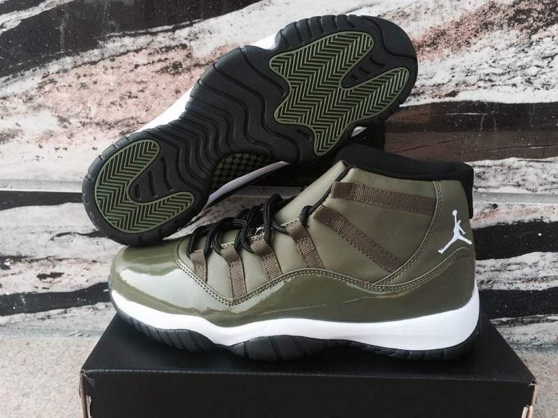 Air Jordan 11 Olive Green Shoes