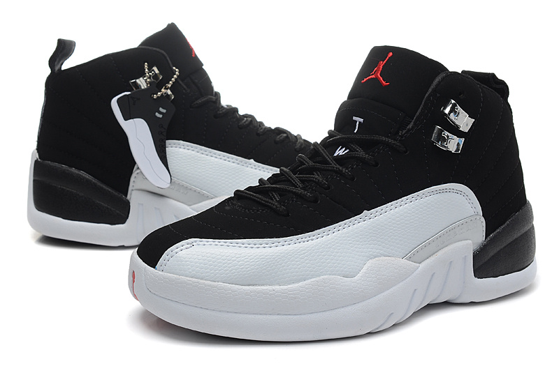 Air Jordan 12 Black White For Women