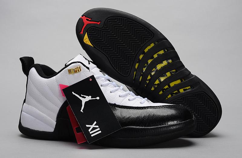 Air Jordan 12 Low White Black Shoes