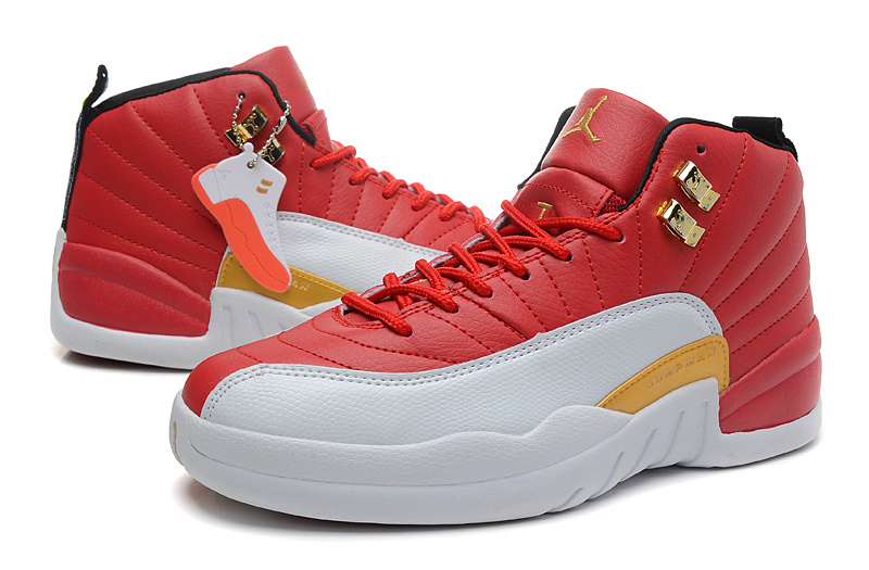 Air Jordan 12 Red White Orange For Women
