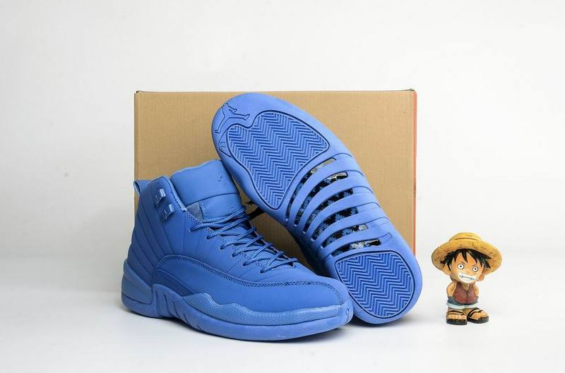Air Jordan 12 Suede All Blue Shoes