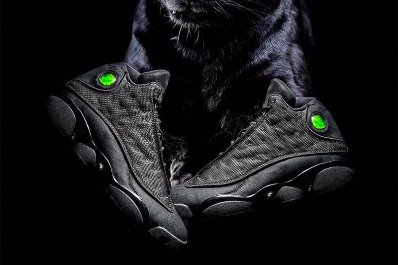 Air Jordan 13 All Black Cat Shoes