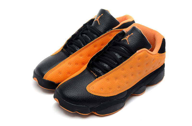 New Arrival Jordan 13 Low Black Orange Shoes